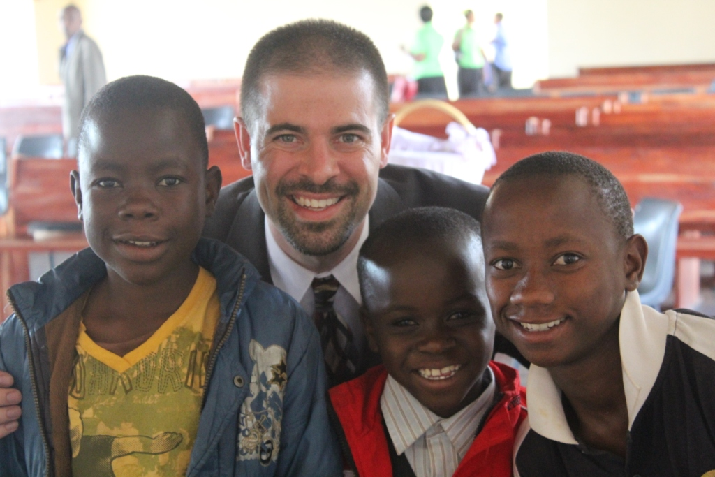 ETO Chairman with boys who were placed into a Christian family