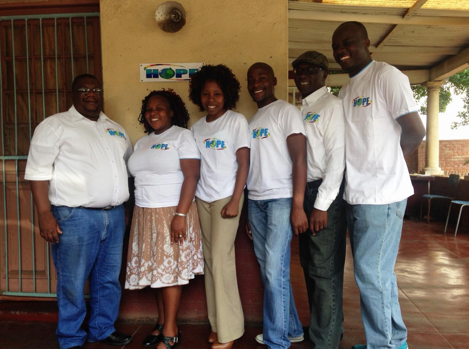 Empty the Orphanage Zimbabwe Team Jabulani, Zondiwe, Yvonne, Dumi, Godwin, Shepherd